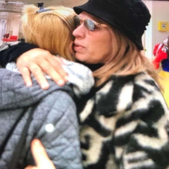 יהודית באומן עם בתה קארין