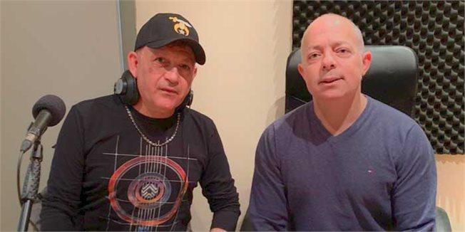 רז שכניק וזאב נחמה באולפן // צילום: מאירה פרץ/103fm