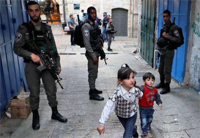 זירת הפיגוע בירושלים, אתמול // צילום: אי.אף.פי