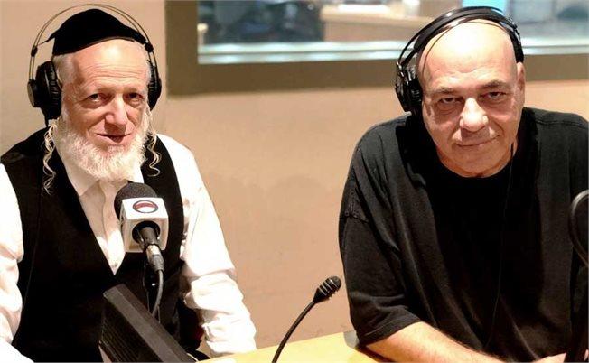 רון קופמן ויהודה משי זהב באולפן // צילום: אלון כץ/103fm